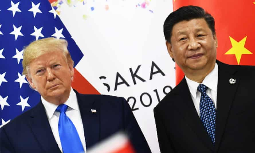 Trump and Xi Jinping at the G20 summit in Osaka in June.