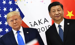 Donald Trump and Chinese president Xi Jinping at the G20 Summit in Osaka.