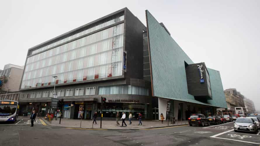 A general view of the Radisson Blu hotel in Glasgow, where the fight was held.