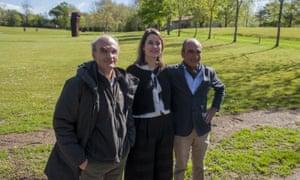 Eduardo Chillida's sons Ignacio (left) and Luis (right), with museum director Mireia Massagué.