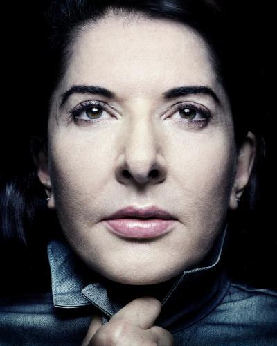 Close-up of artist Marina Abramovic