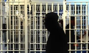 Prisoners behind bars