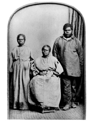 Truganini, her relative Bessy Clarke and William Lanney, believed in the 1800s to be the last indigenous Tasmanian people.