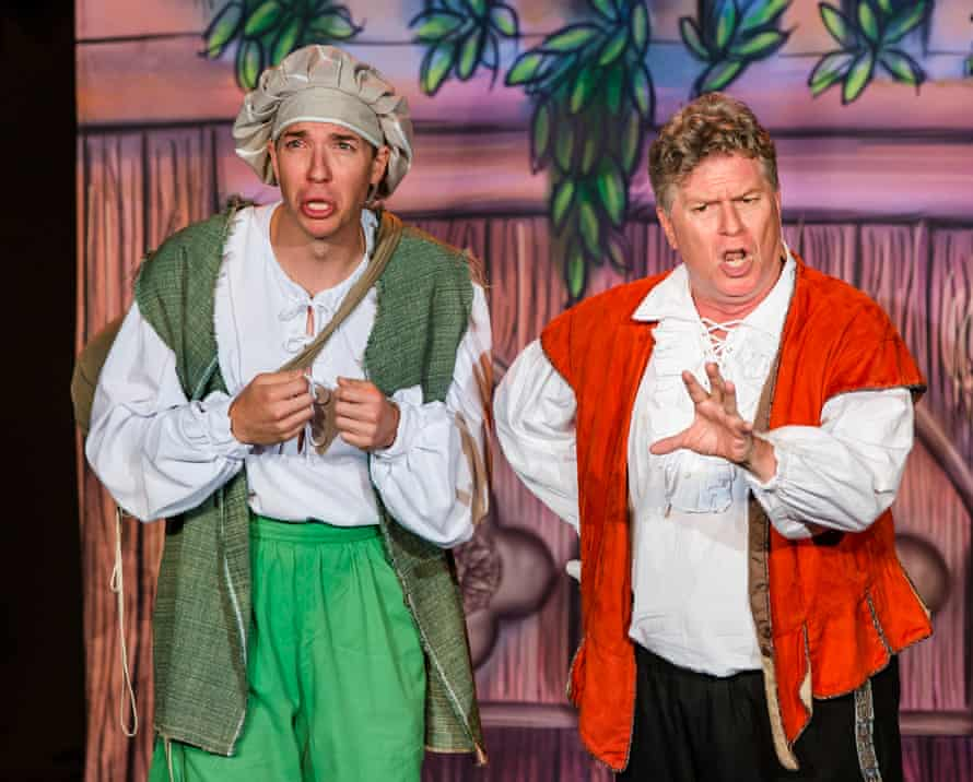 Crowd favourite … the Reduced Shakespeare Company with William Shakespeare's Long Lost First Play (Abridged).