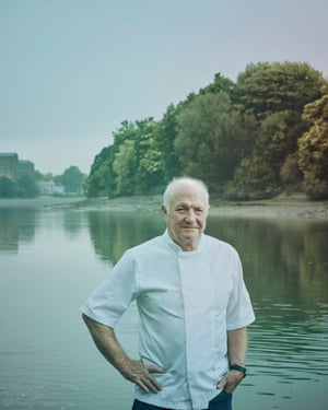 Rick Stein on the banks of the River Thames beside his Barnes restaurant