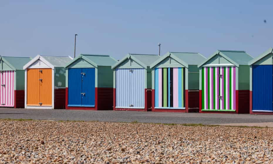 Beach huts at Hove.