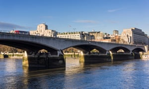 One swimmer went missing at Waterloo Bridge, police said.