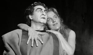 Inge Borkh and Max Lorenz in Richard Strauss's Elektra, performed by the Frankfurt Opera in Paris, 1960.
