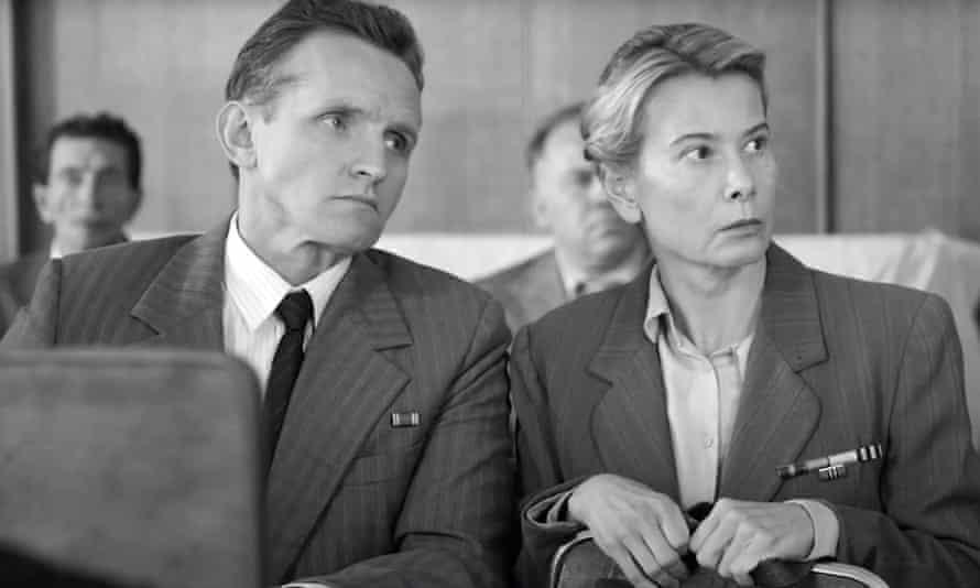 Vladislav Komarov and Julia Vysotskaya in a scene from Dear Comrades!