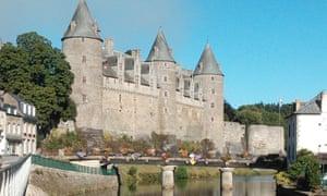 The fairytale Josselin Castle in Morbihan, Brittany.