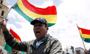 Bolivian protesters