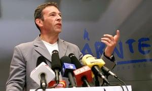 Austria's far-right leader, Jörg Haider, in 2000.