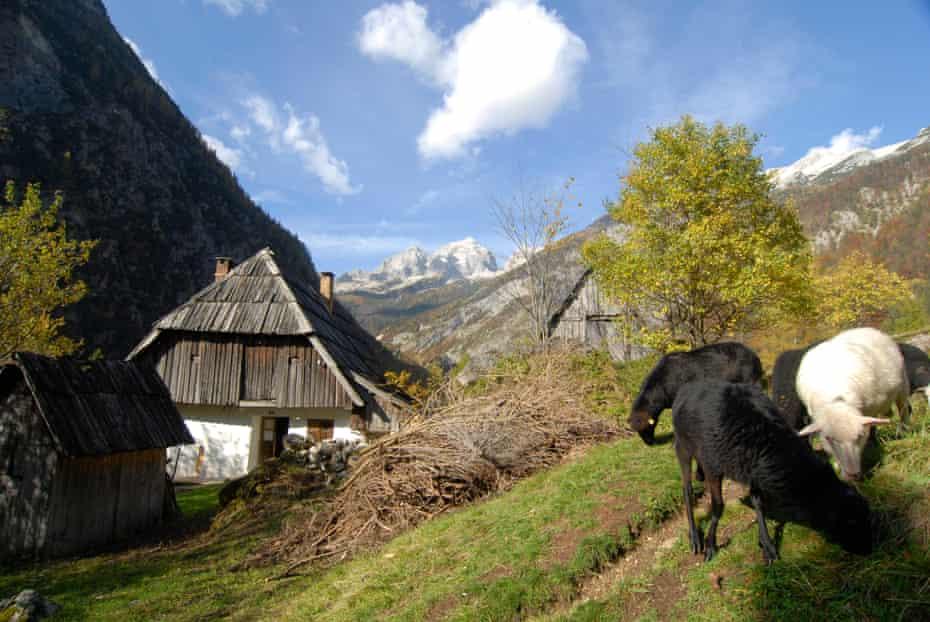 A high mountain pass in Slovenia