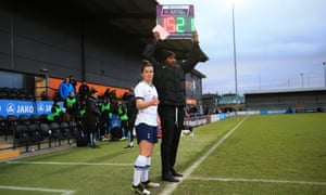 Emma Mitchell prepares to make her debut for Tottenham against Manchester City at The Hive having joined the club from Arsenal