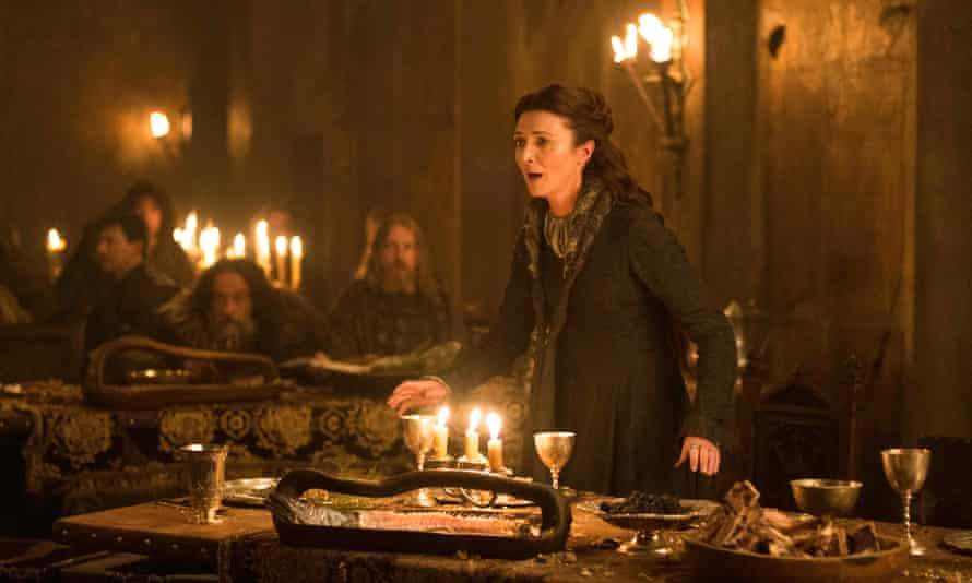 Michelle Fairley as Catelyn Stark at 'the Red Wedding'.