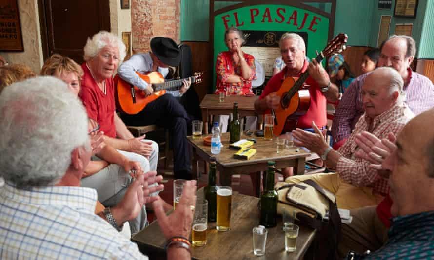A flamenco bar in Jerez de la Frontera