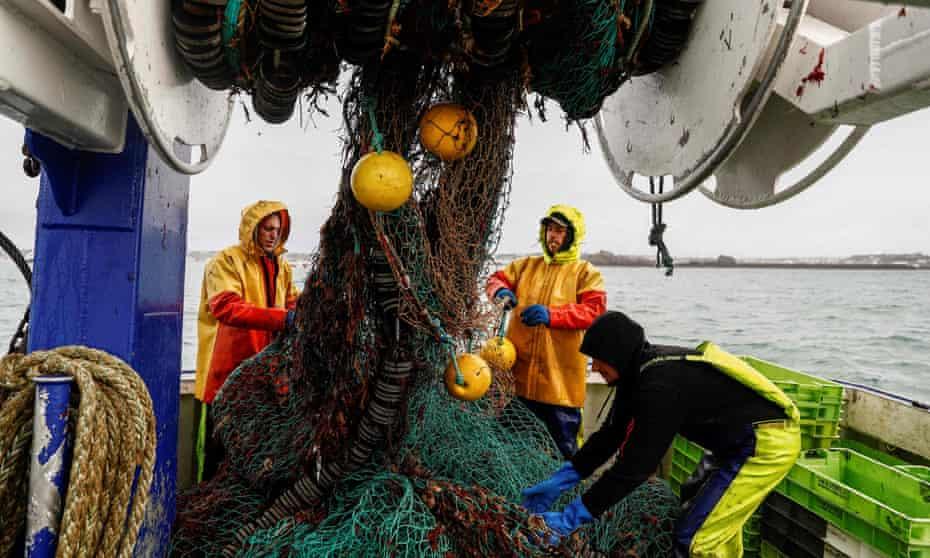 French fisher folk on board