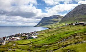 View of Klaksvik in the Faroe Islands