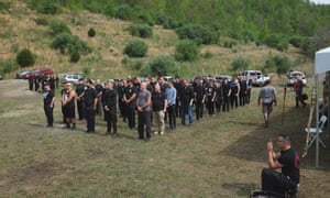 White nationalists are trained how to march in formation by the handful of military veterans