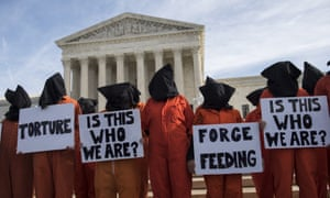 A rally at the Supreme Court in Washington against detention in Guantanamo Bay, Cuba