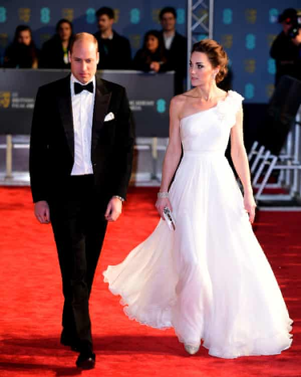 The Duke and Duchess of Cambridge arrive at the Baftas.