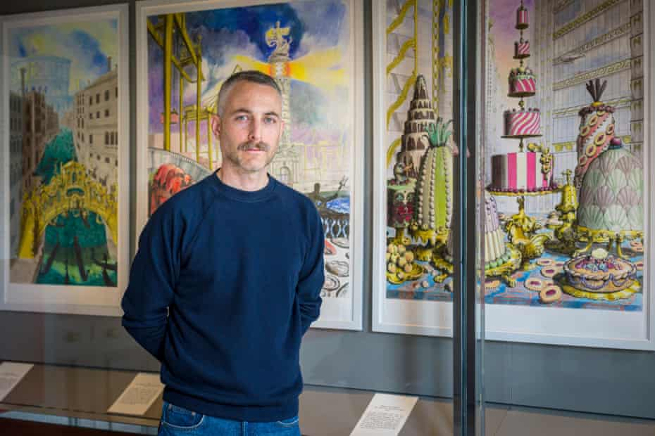'I was workig around the clock' … Pablo Bronstein at his exhibition Hell in its Heyday at Sir John Soane's Museum.