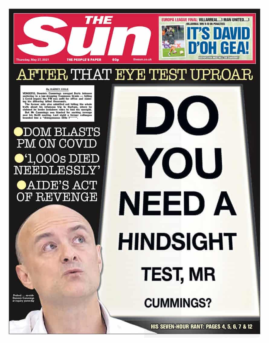 Sun newspaper front page