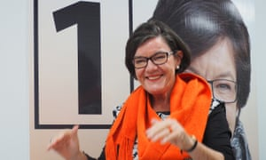 Cathy McGowan at the opening of her campaign hub in Wangaratta in 2016.