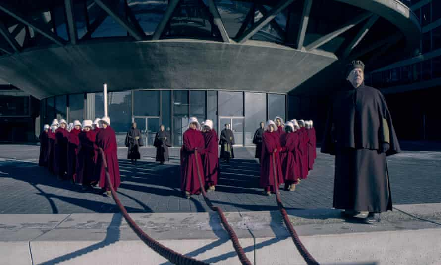 Aunt Lydia, right, in the TV adaptation of The Handmaid's Tale