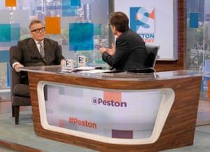 With Peston in TV studio