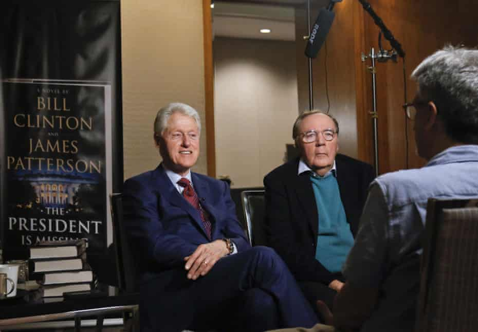 Patterson with Bill Clinton in May 2018. Their book The President's Daughter will be released in June.