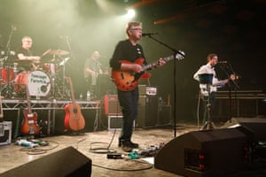 Magisterial ... Teenage Fanclub – with departing Gerard Love, right.