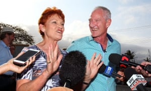 One Nation national leader Pauline Hanson and Queensland party leader Steve Dickson