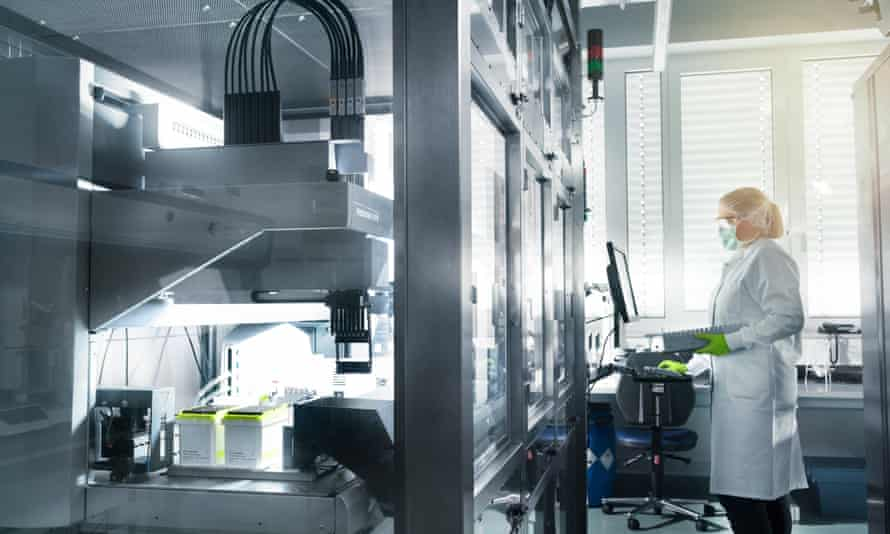A laboratory in Germany run by BioNTech, Pfizer's partner in the development of a vaccine against coronavirus