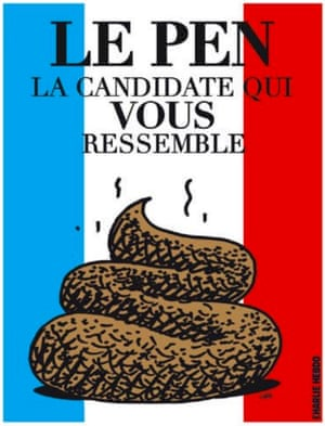 The mock election poster reading: 'Le Pen, the candidate who is like you.'