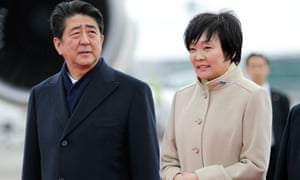 Shinzo Abe and his wife Akie