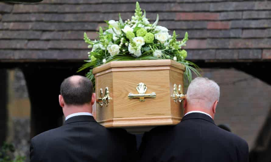 A funeral taking place