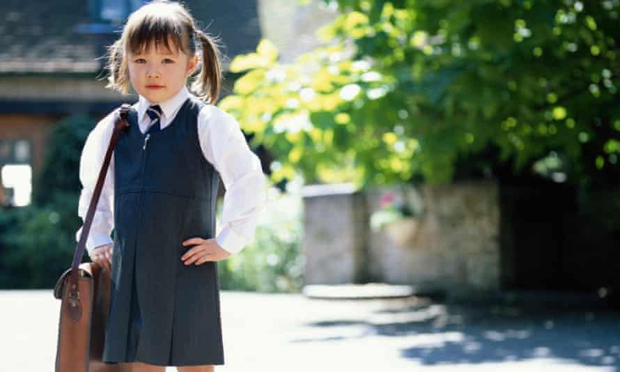 girl on way to school