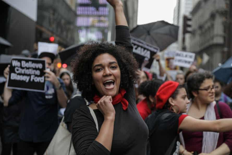 Anti-Kavanaugh protesters in New York City.
