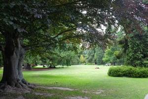Hagley Park in Christchurch, New Zealand.