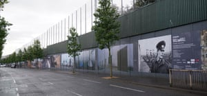 'Peace wall' Belfast 2019Weidenhöfer's Wall on Wall project is currently on display in Belfast.