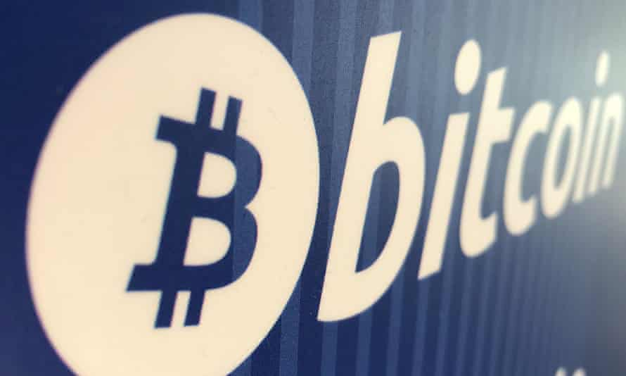A bitcoin logo is seen on a cryptocurrency ATM in Santa Monica, California, US.