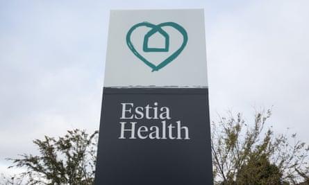 Estia sign outside a Melbourne facility