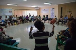Pregnant women and mothers meet at Hospital Geral Especializado do Kilamba Kiaxi