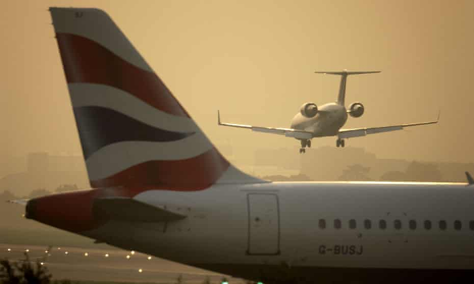 Planes at Gatwick airport