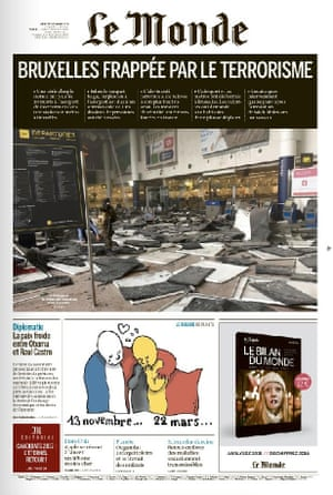 The front page of Le Monde