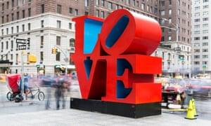 Robert Indiana's Love sculpture in New York.