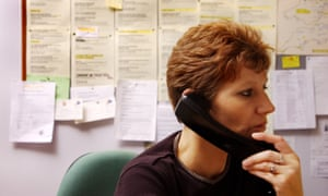 A Women's Aid counsellor answers a call to the charity's helpline
