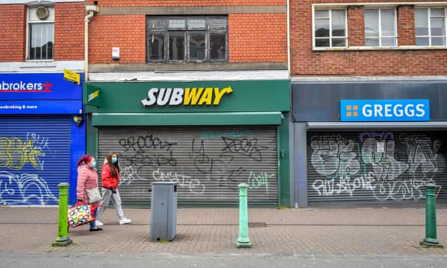 Closed shops in Bedminster, Bristol, 1 April 2020