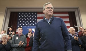Jeb Bush<br>Attendees applaud as Republican presidential candidate, former Florida Gov. Jeb Bush is introduced during a campaign stop at Sherburne Hall, Saturday, Jan. 23, 2016, in Pelham. (AP Photo/John Minchillo)